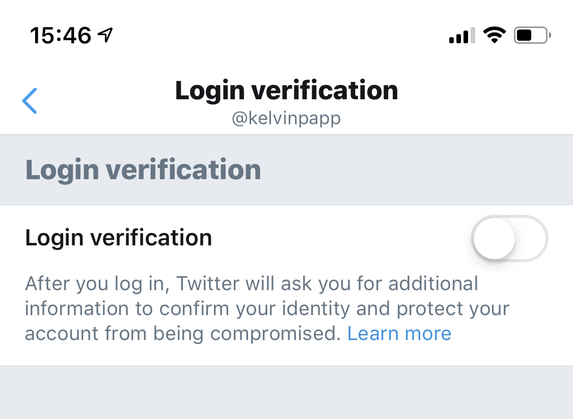 Login Verification with no services enabled