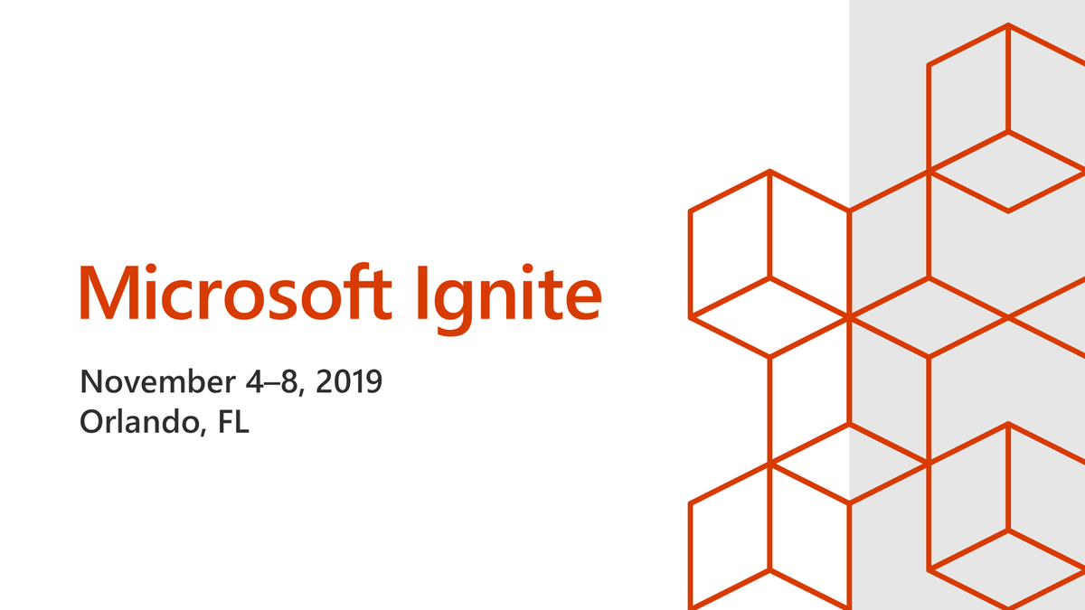 The feature graphic from Microsoft Ignite 2019